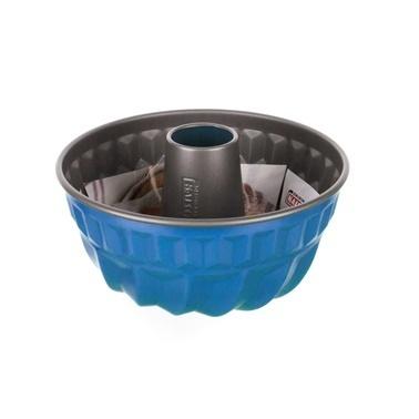 Kaiser Borulu Kek Kalıbı Mavi 22 Cm Mavi